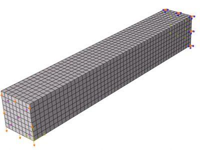مدلسازی ستون بتنی در آباکوس