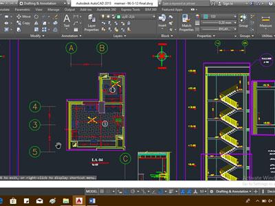نقشه فاز 2 معماری ساختمان 8 طبقه