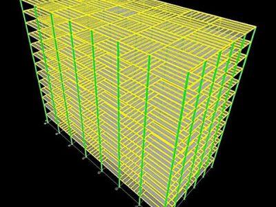طراحی ساختمان فولادی 13 طبقه